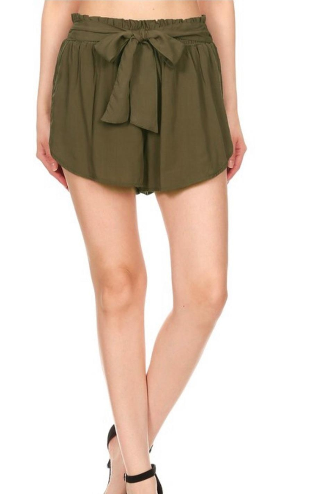 S&G Apparel Paper-Bag Waist Shorts - Front Cropped Image