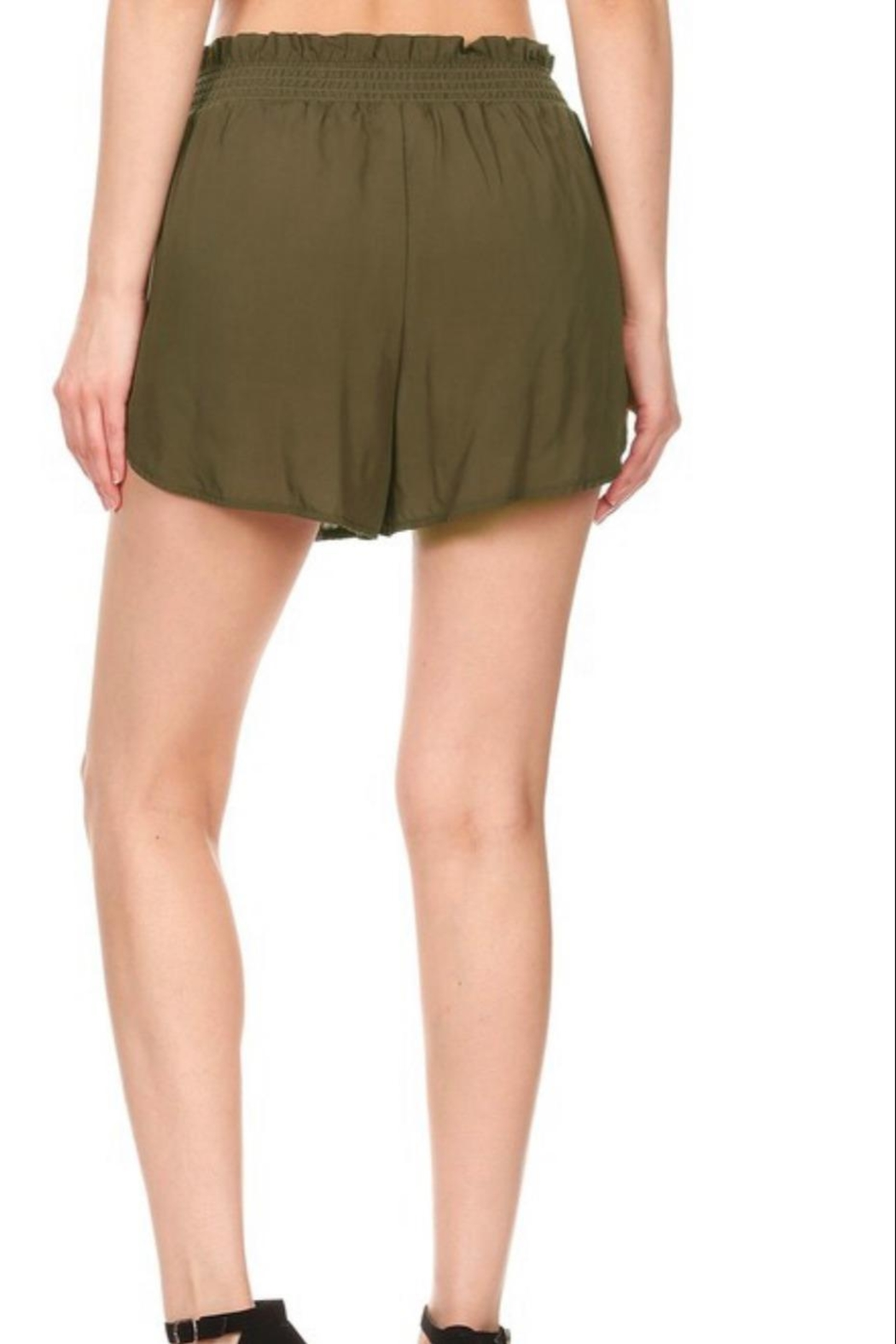 S&G Apparel Paper-Bag Waist Shorts - Front Full Image