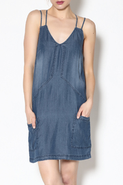 Paper Crane Sleeveless Denim Dress - Product Mini Image