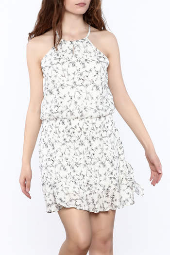 Paper Crane Smocked Waist Floral Dress - Main Image
