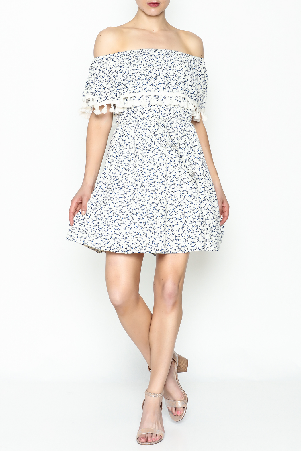 Paper Crane Flounce Dress - Side Cropped Image