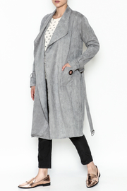 Paper Crane Grey Trench Coat - Product Mini Image