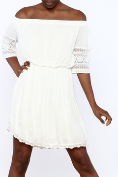 Paper Crane Ivory Off Shoulder Dress - Product List Image