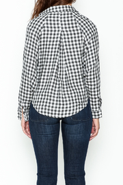 Paper Crane Knotted Grid Shirt - Back cropped