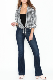 Paper Crane Knotted Grid Shirt - Side cropped