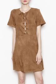 Paper Crane Lace-Up Suede Dress - Product Mini Image