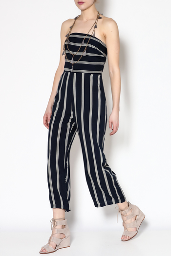 6e6c07601 Silence Noise Strappy Striped Culotte Jumpsuit Urban Outfitters ...