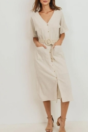 Paper Crane Belted Striped Midi - Product Mini Image
