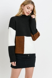 Paper Crane Color Block Sweater - Product Mini Image