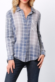 Paper Crane Faded Plaid Shirt - Product Mini Image