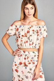 Paper Crane Floral Print Top - Front cropped