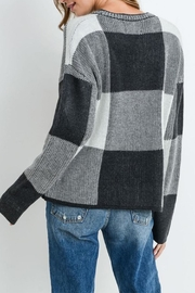 Paper Crane Grey Checkered Sweater - Front full body