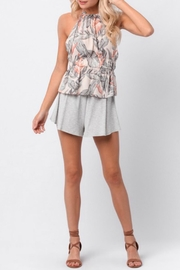 Paper Crane Halter Peplum Top - Front full body