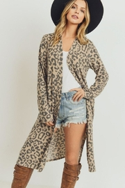 Paper Crane Leopard Side Slit Cardigan - Product Mini Image