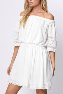 Shoptiques Product: Off Shoulder Lace Dress