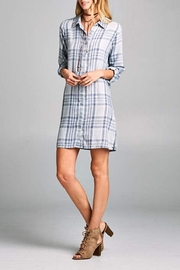 Paper Crane Plaid Tunic Dress - Product Mini Image