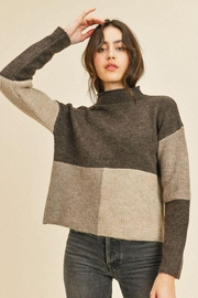 Paper Crane Ribbed Long Sleeve Sweater Top - Product Mini Image