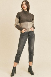 Paper Crane Ribbed Long Sleeve Sweater Top - Other