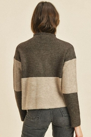 Paper Crane Ribbed Long Sleeve Sweater Top - Front full body