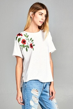 Shoptiques Product: Rose Embroidered Top