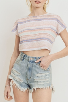 Paper Crane Scalloped Crop Top - Product List Image