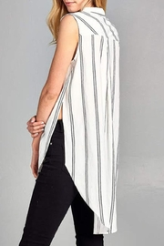 Paper Crane Sleeveless Striped Top - Back cropped