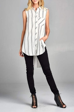 Shoptiques Product: Sleeveless Striped Top