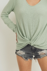 Paper Crane Soft Twist-Front Top - Front full body