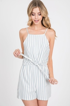 Paper Crane Striped Front Tie Romper - Product List Image