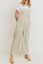 Paper Crane Stripped Cotton Overalls - Side cropped