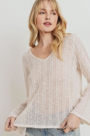 Paper Crane Textured Sweater Top - Product Mini Image