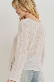 Paper Crane Textured Sweater Top - Front full body