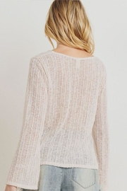 Paper Crane Textured Sweater Top - Side cropped