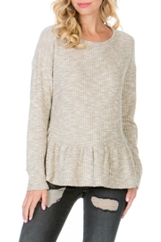 Paper Crane The Peplum Sweater - Front cropped