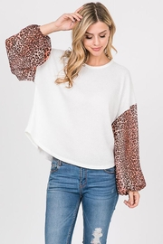 Paper Crane Waffle Leopard Top - Product Mini Image