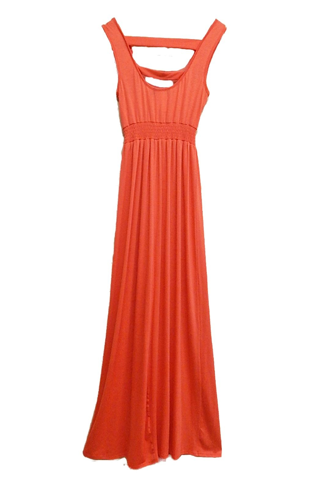 Paper Doll Coral Maxi Dress - Front Full Image
