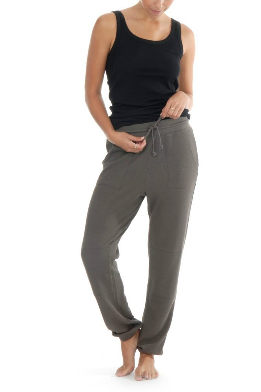 Paper Label Cara Waffle Sweatpant - Front Cropped Image