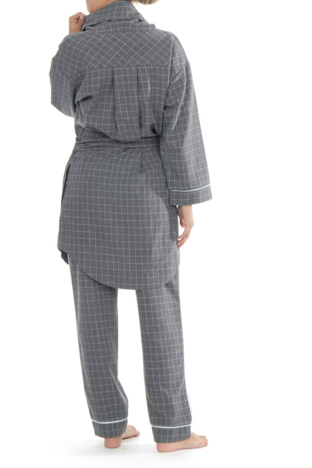 Paper Label Marlowe Flannet Robe - Front Full Image