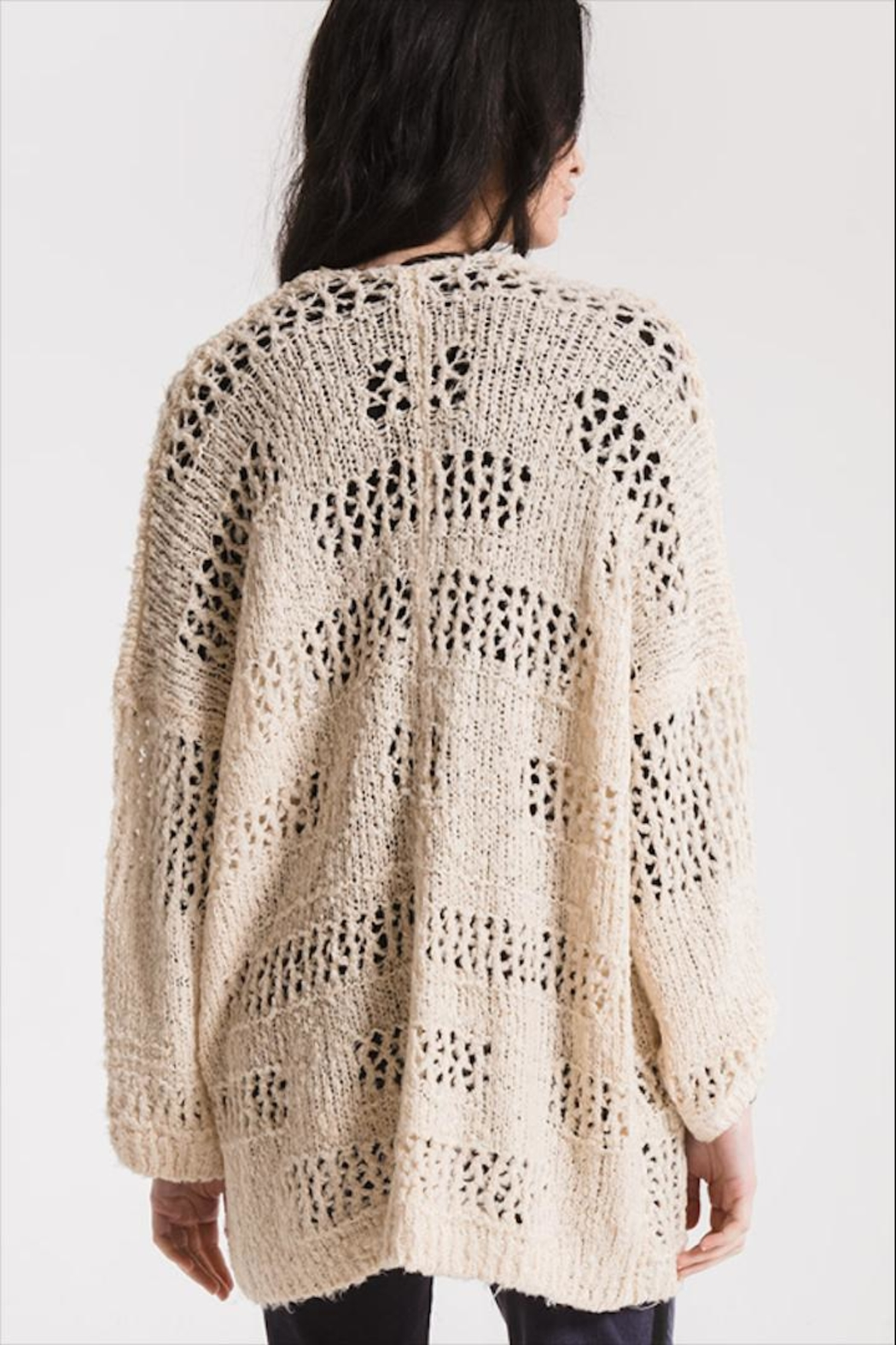 Paper Moon Classic Loose-Knit Cardigan - Side Cropped Image