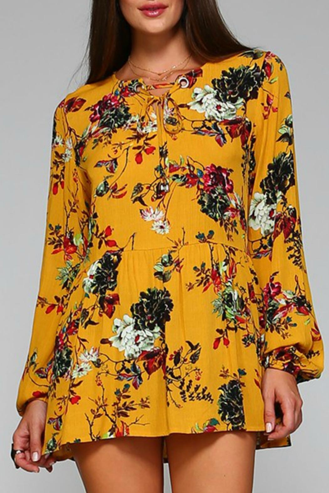 paper racine Floral Tunic Top - Main Image