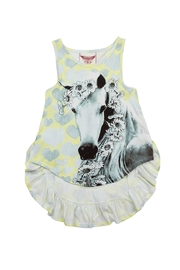 Paper Wings Daisy Horse Singlet - Front cropped