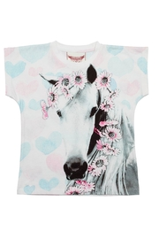 Paper Wings Daisy Horse Tee - Front cropped