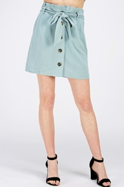 HYFVE Paperbag Button Skirt - Front cropped
