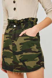 R+D  Paperbag Camo Denim Skirt - Product Mini Image