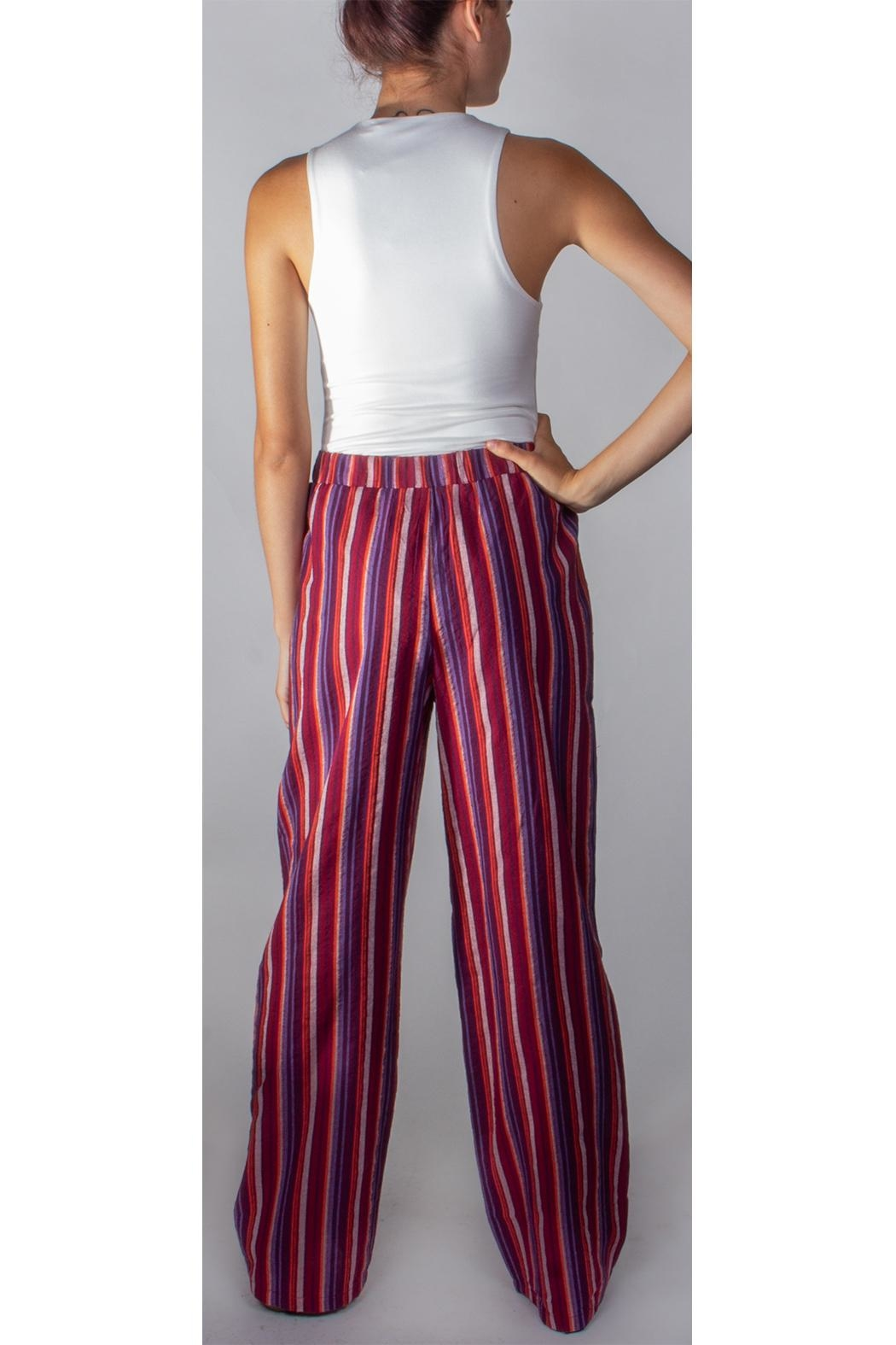 Miss Love Paperbag Striped Pants - Side Cropped Image