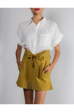 Shoptiques Product: Paperbag-Tied High-Waisted Shorts