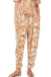 Anama Paperbag-Waist Floral Pants - Front cropped