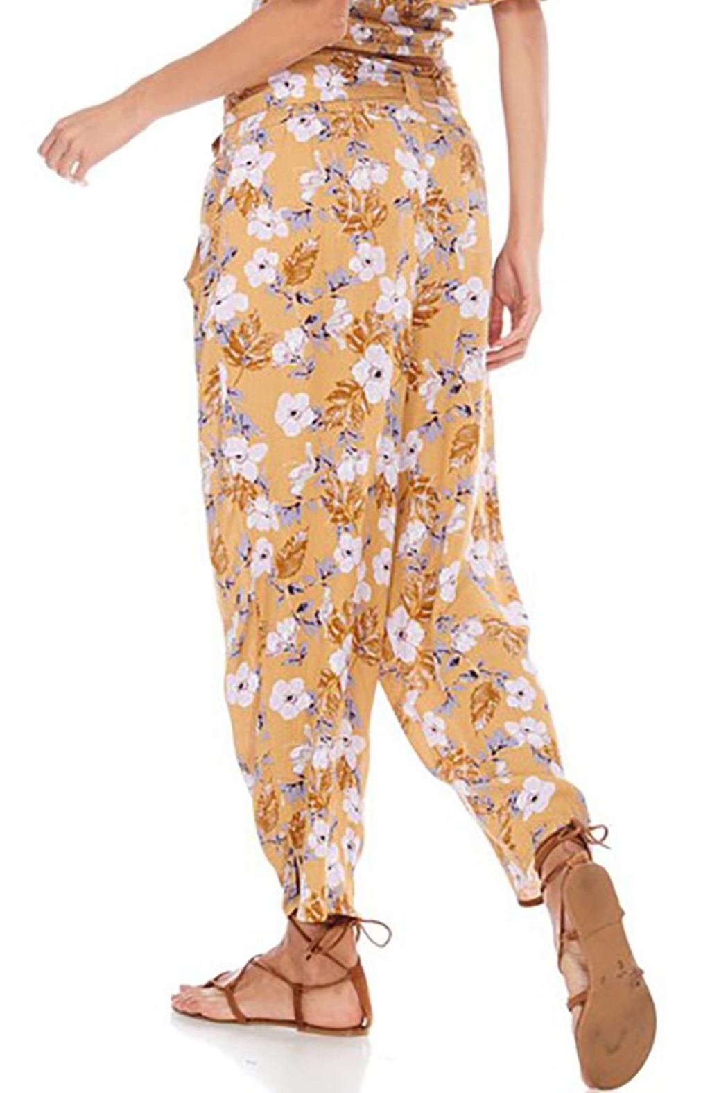 Anama Paperbag-Waist Floral Pants - Front Full Image