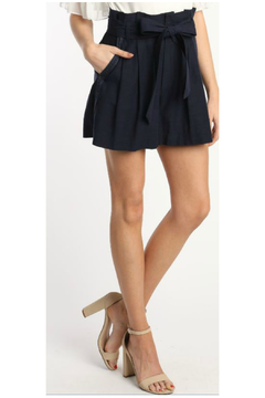 Skies Are Blue Paperbag Waist Shorts - Product List Image