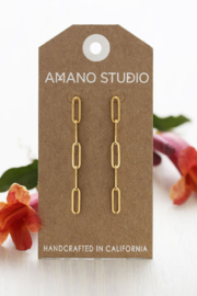 AMANO STUDIO Paperclip Chain Earrings - Side cropped